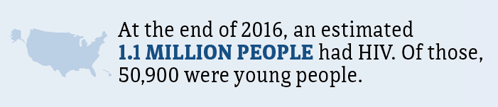 At the end of 2016, an estimated 1.1 million people had HIV. Of those, 50,900 were young people.