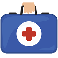 Icon of doctor's bag