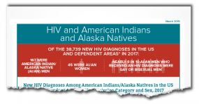 torn thumbnail image: This web content contains information and statistical data about HIV among American Indians and Alaska Natives.