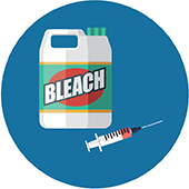 icon of bleach and a syringe