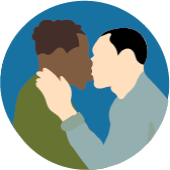 icon of open mouth kissing