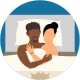icon of a man and woman in bed