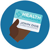 icon of a hand holding an insurance card