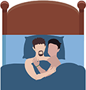 icon of two men in bed