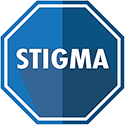 icon of stop sign with stigma text