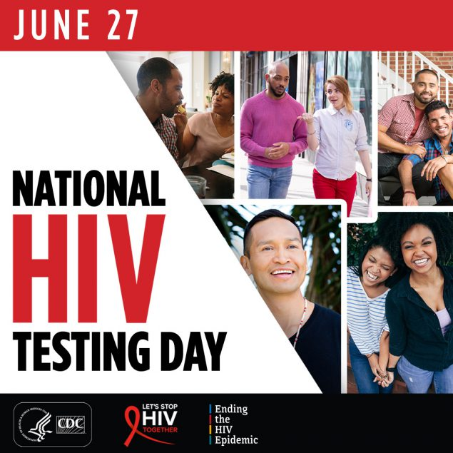 June 27. National HIV Testing Day.
