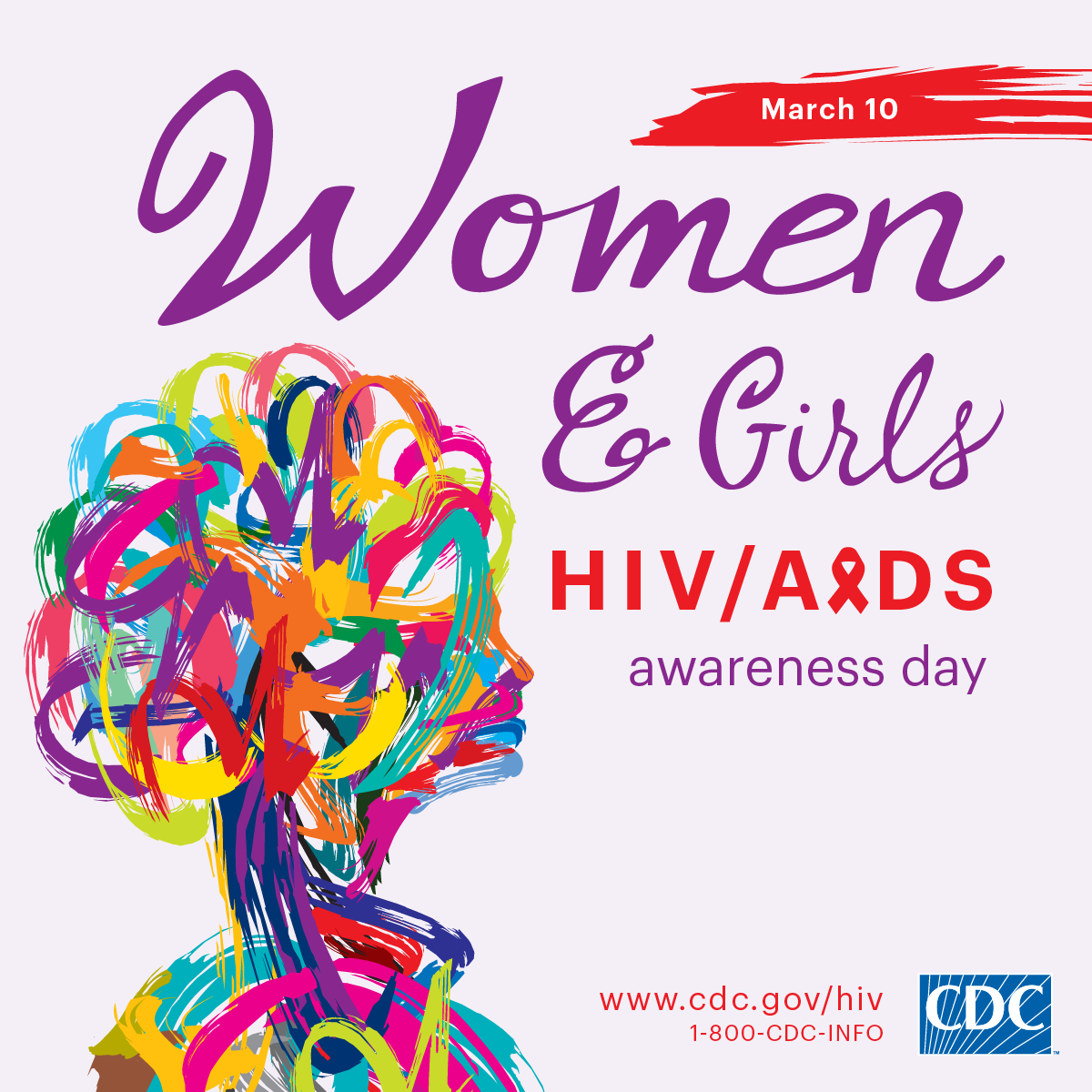 This Facebook profile graphic promotes National Women and Girls HIV/AIDS Awareness Day on May 10. For more information, visit www.cdc.gov/hiv.