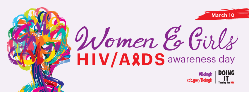 This Facebook cover graphic promotes National Women and Girls HIV/AIDS Awareness Day on May 10. For more information, visit www.cdc.gov/hiv.