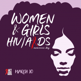 Women and girls HIV/AIDS awareness day March 10, 2018.