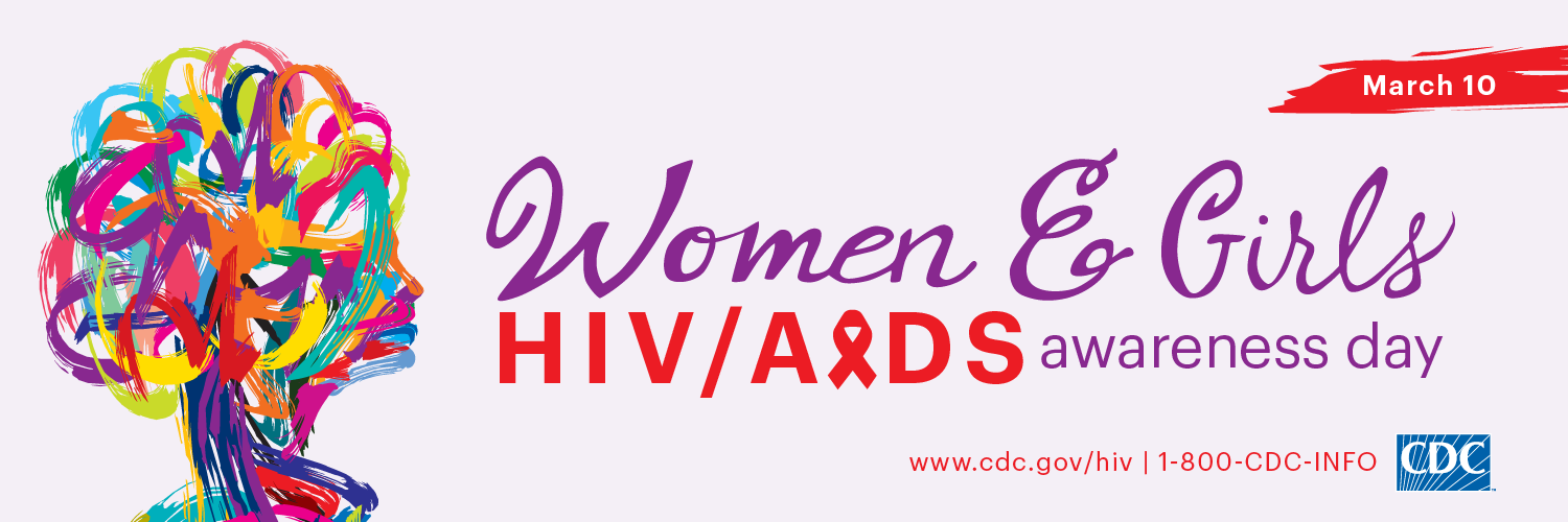 This Twitter cover graphic promotes National Women and Girls HIV/AIDS Awareness Day on May 10. For more information, visit www.cdc.gov/hiv.