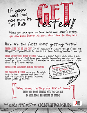 Youth poster: Get Tested