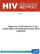 HIV Surveillance Report: Diagnoses of HIV Infection in the United States and Dependent Areas, 2018 (Updated)
