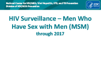 Cover slide - HIV Surveillance in MSM