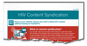 HIV Content Syndication Fact Sheet