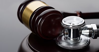 photo of a stethescope and gavel