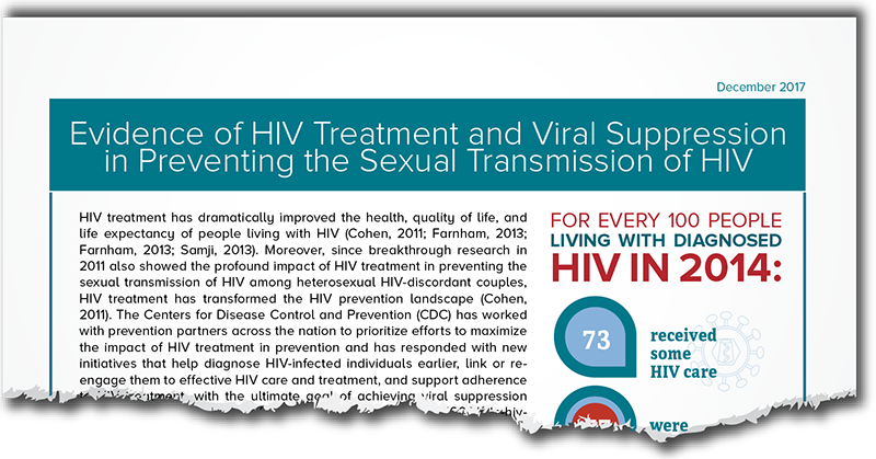 Evidence of HIV Treatment and Viral Suppression in Preventing the Sexual Transmission of HIV preview