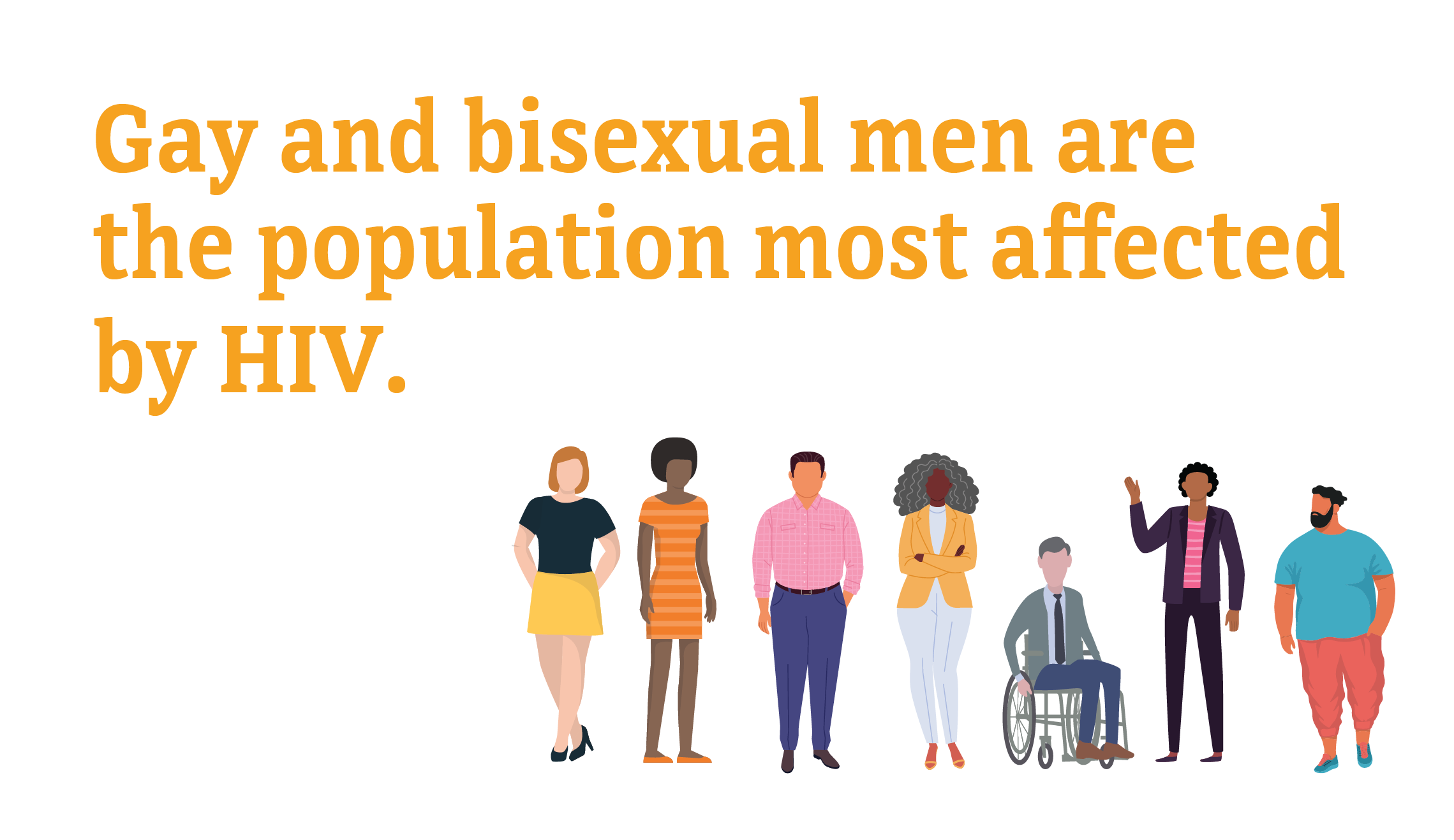Gay and bisexual men are the population most affected by HIV.
