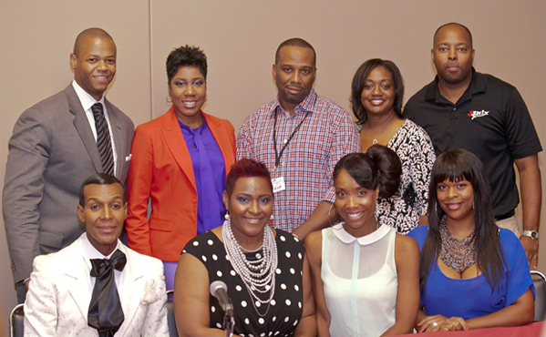 CDC's Shop Talk Workshop participants at the Bronner Bros. International Hair Show in Atlanta, GA