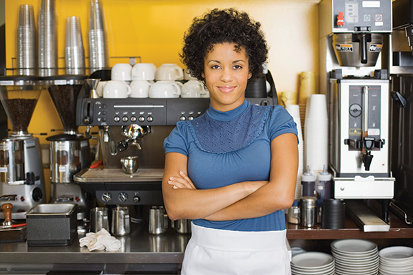 photo of a female barista