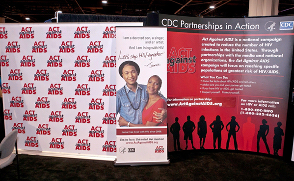 CDC exhibit booth at the Bronner Bros. International Hair Show in Atlanta, GA