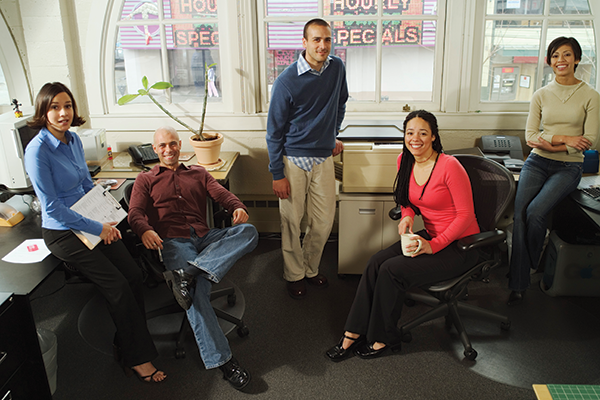 photo of several people in an office