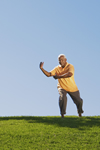photo of man doing tai chi for fall prevention
