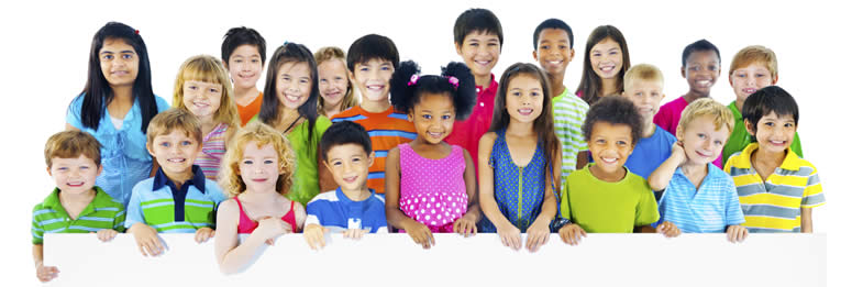 photo of a diverse group of children
