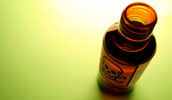 photo: bottle with poison symbol