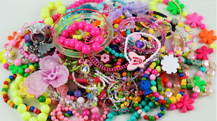 pile of plastic jewelry