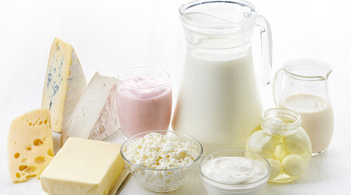 milk, butter, cheese, and yogurt products