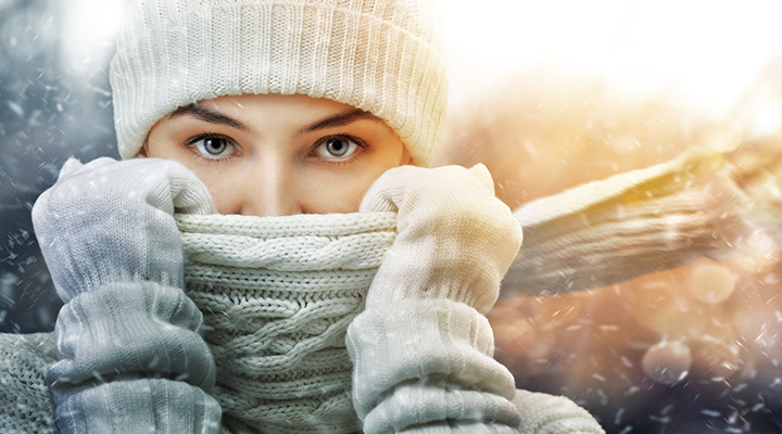 woman dressed in winter clothing