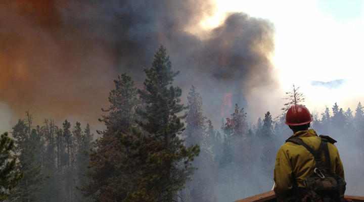 outdoor worker and wildfire smoke