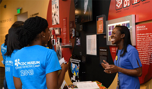 CDC employees engaged in support of the STEM program