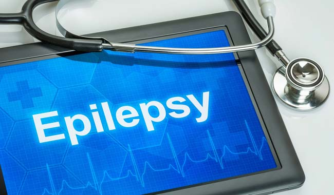 Epilepsy written on tablet