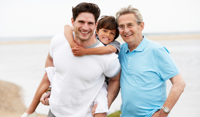 multigenerational male family