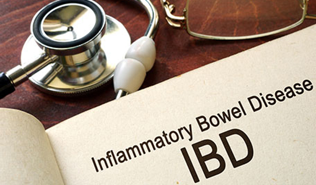 Book open to page on Inflammatory Bowel Disease