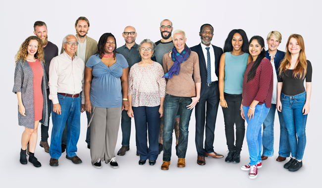 Diverse group of people who have been tested for hepatitis