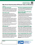 HPV vaccine safety fact sheet