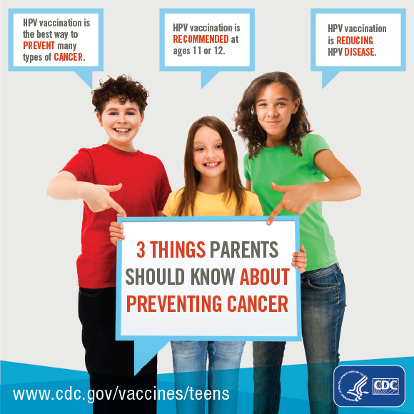 3 Things Parents Need To Know About Preventing Cancers Text Version HPV Vaccination