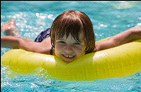 Picture of child swimming