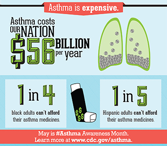 May is Asthma Awareness Month — Take action to Help America Breathe Easier. www.cdc.gov/asthma