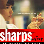 Sharps safety begins with you. Sharps safety: Be sharp, Be safe.
