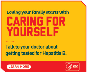 Loving your family starts with caring for yourself. Talk to your doctor about getting tested for Hepatitis B. Learn more: http://www.cdc.gov/knowhepatitisB/