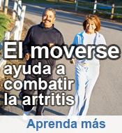 El moverse ayuda a combatir la artritis. Aprenda mas