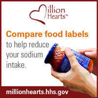 Compare food labels to help reduce your sodium intake.