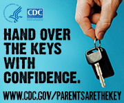 Hand over the keys with confidence. www.cdc.gov/parentsarethekey