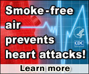 Smoke-free air prevents heart attacks! Learn more…