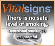 There is no safe level of smoking. Occasional smoking is still harnful. CDC Vital Signs. https://www.cdc.gov/VitalSigns/AdultSmoking/