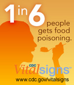1 in 6 people gets food poisoning. CDC Vital Signs™: www.cdc.gov/vitalsigns