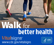 Walk for better health.